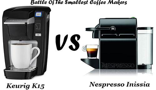 keurig k15 vs nespresso inissia