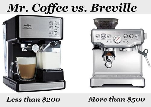mr coffee vs breville espresso maker